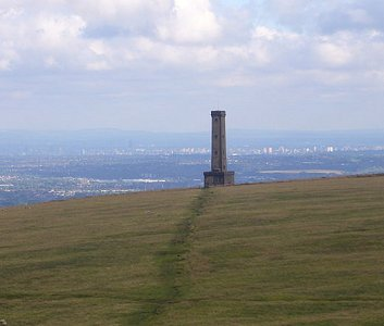The Peel Monument looking south towards Bury